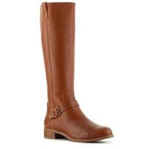 Rachel Roy Brown Leather Desirey Riding Boot 7.5